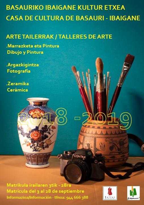 Cursos arte casa de cultura de Ibaigane