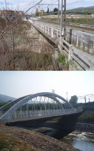 Antiguo y nuevo puente de Arizbarrena
