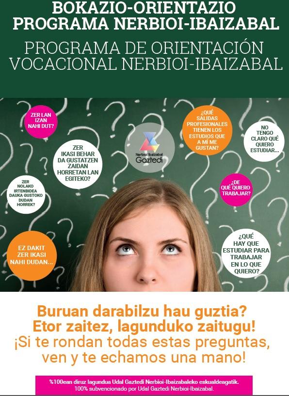 Programa de orientación vocacional y educativa para el alumnado de  4º de la ESO y bachiller y familias